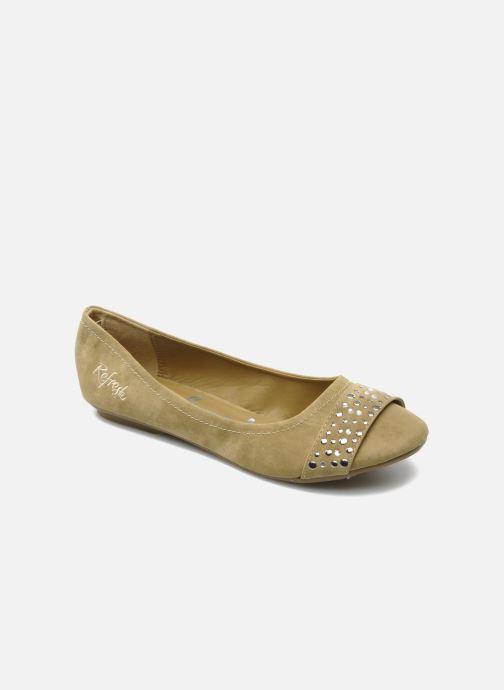 Ballerinaer Refresh Valencina Beige detaljeret billede af skoene