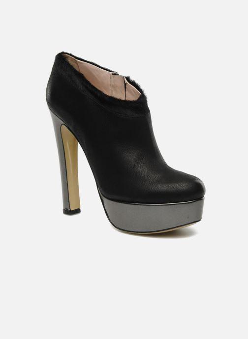Ankelstøvler De Siena shoes Amalia Sort detaljeret billede af skoene
