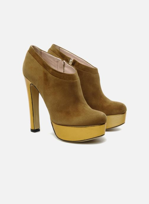 Ankle boots De Siena shoes Amalia Beige 3/4 view