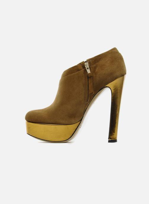 Botines  De Siena shoes Amalia Beige vista de frente