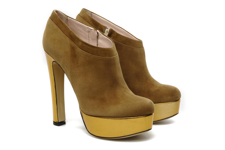 Stivaletti e tronchetti De Siena shoes Amalia Beige immagine 3/4