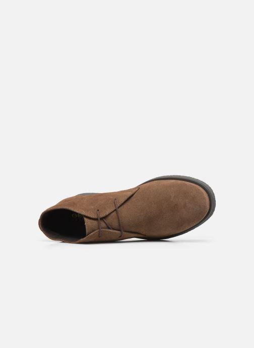 Zapatos con cordones Geox UOMO CLAUDIO Marrón vista lateral izquierda