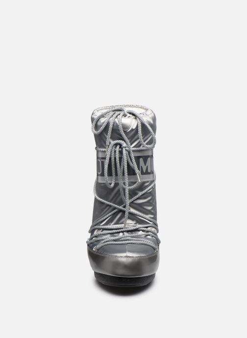 Sportschuhe Moon Boot Glance silber schuhe getragen