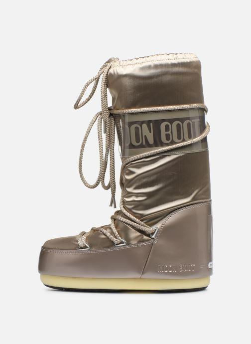 Chaussures de sport Moon Boot Glance Or et bronze vue face