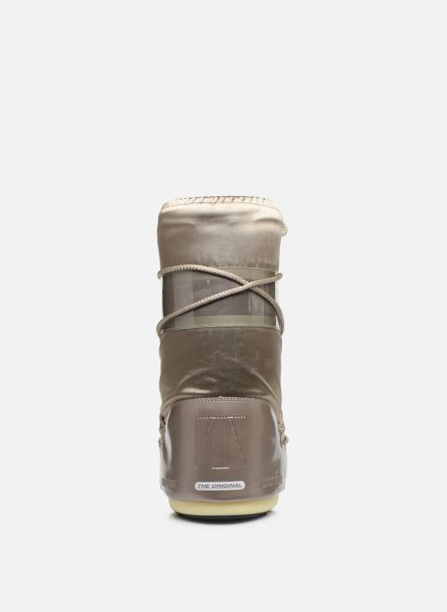 Sport shoes Moon Boot Glance Bronze and Gold view from the right