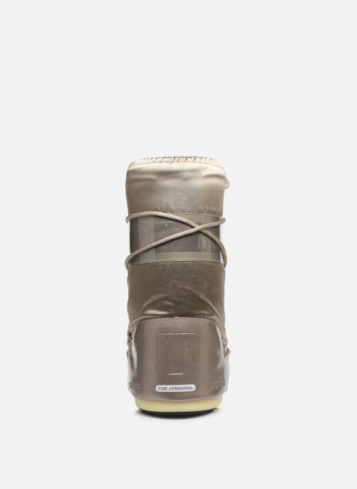 Zapatillas de deporte Moon Boot Glance Oro y bronce vista lateral derecha