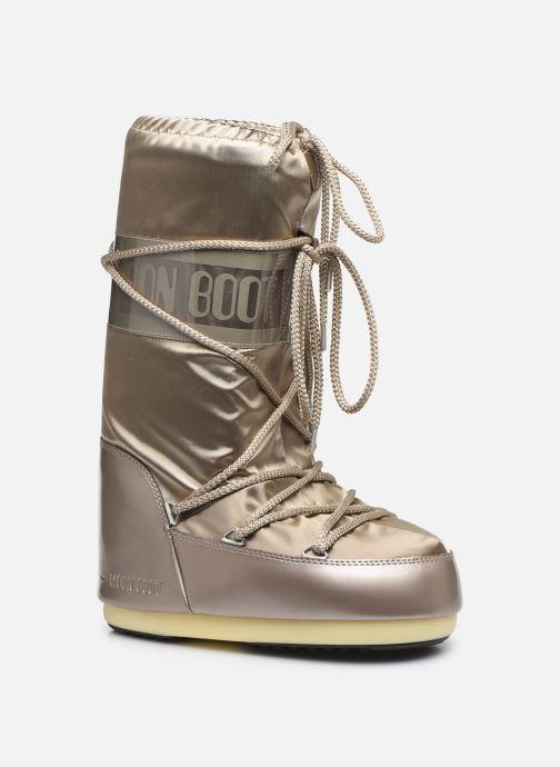 Chaussures de sport Moon Boot Glance Or et bronze vue détail/paire