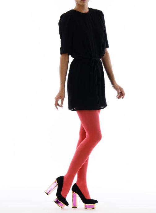 High heels Kat Maconie VALERIE Black view from underneath / model view