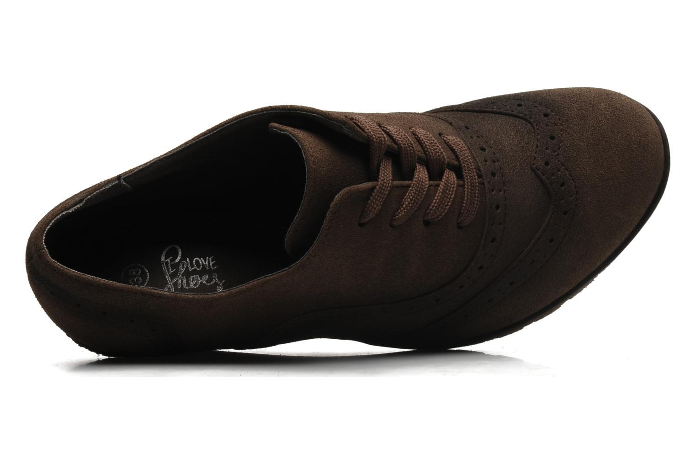 Chaussures à lacets I Love Shoes Sugolf Marron vue gauche