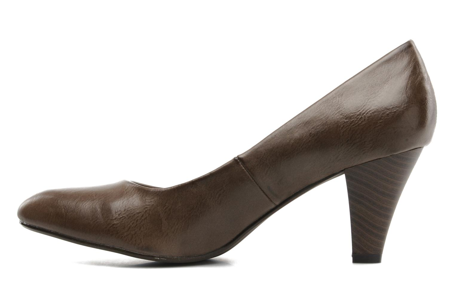 High heels I Love Shoes Supin Brown front view