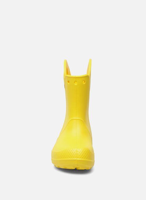 Stivali Crocs Handle it Rain Boot kids Giallo modello indossato