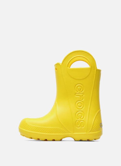 Boots & wellies Crocs Handle it Rain Boot kids Yellow front view