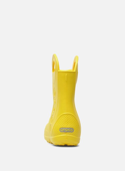 Boots & wellies Crocs Handle it Rain Boot kids Yellow view from the right