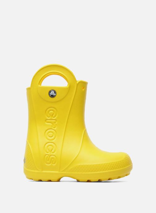 Boots & wellies Crocs Handle it Rain Boot kids Yellow back view