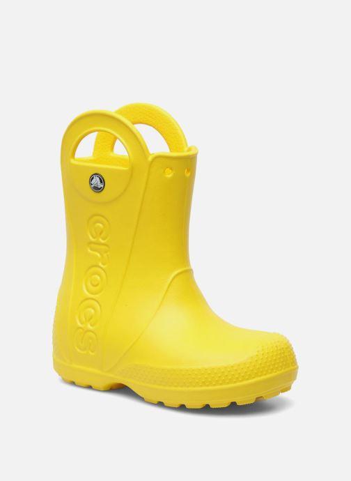 Stövlar & gummistövlar Crocs Handle it Rain Boot kids Gul detaljerad bild på paret