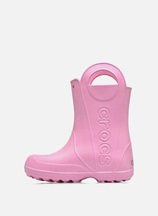 Botas Crocs Handle it Rain Boot kids Rosa vista de frente