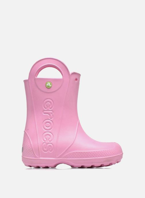 Botas Crocs Handle it Rain Boot kids Rosa vistra trasera
