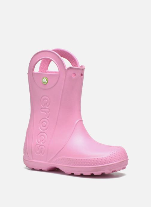 Bottes Crocs Handle it Rain Boot kids Rose vue détail/paire