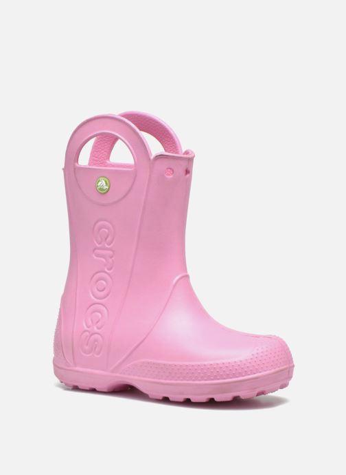 Botas Crocs Handle it Rain Boot kids Rosa vista de detalle / par