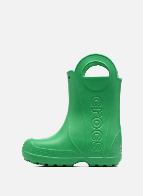 Botas Crocs Handle it Rain Boot kids Verde vista de frente