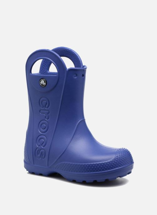 Botas Crocs Handle it Rain Boot kids Azul vista de detalle / par