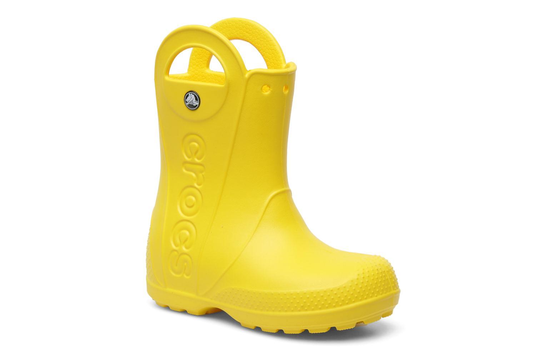 Bottes Crocs Handle it Rain Boot kids Jaune vue détail/paire