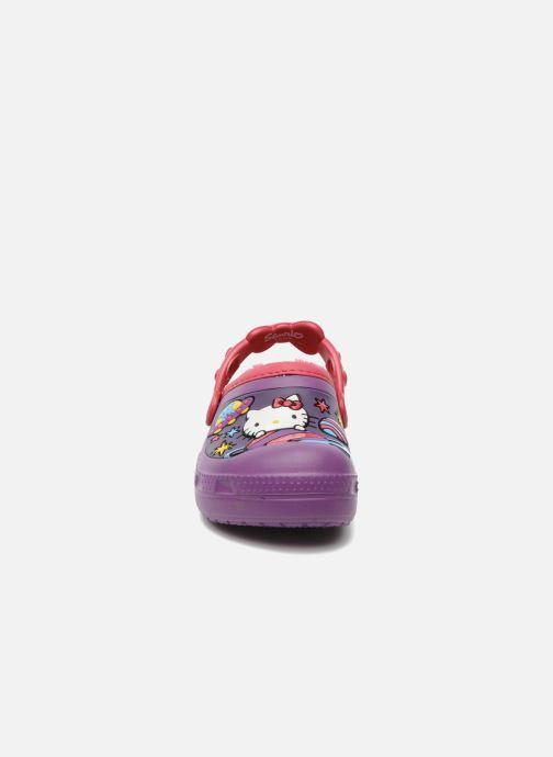 Sandales et nu-pieds Crocs Hello Kitty Space Adventure Lined Clog Violet vue portées chaussures