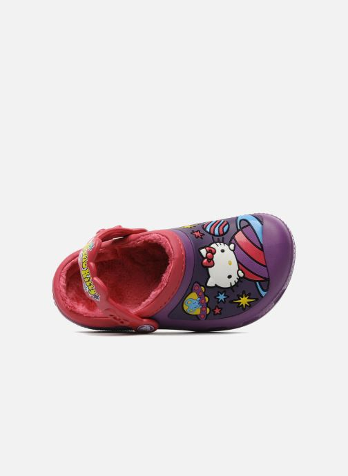 Sandales et nu-pieds Crocs Hello Kitty Space Adventure Lined Clog Violet vue gauche
