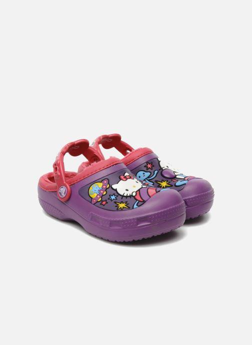 Sandales et nu-pieds Crocs Hello Kitty Space Adventure Lined Clog Violet vue détail/paire
