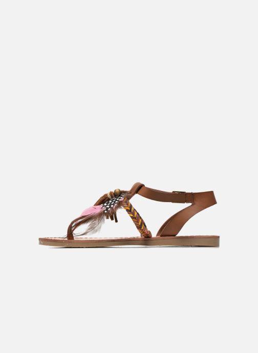 Sandales et nu-pieds Coolway MELROSE Marron vue face
