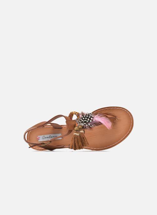 Sandales et nu-pieds Coolway MELROSE Marron vue gauche