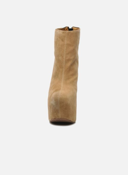 Ankle boots Jeffrey Campbell NITEMATE (WITH GOLD STAR) Beige model view