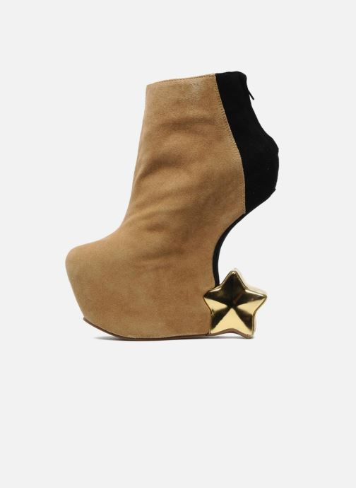 Ankle boots Jeffrey Campbell NITEMATE (WITH GOLD STAR) Beige front view