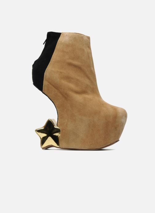 Botines  Jeffrey Campbell NITEMATE (WITH GOLD STAR) Beige vistra trasera