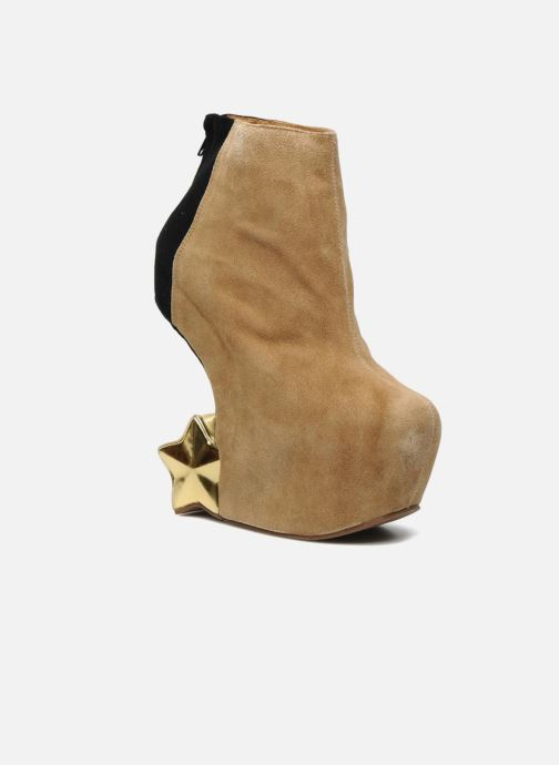 Ankle boots Jeffrey Campbell NITEMATE (WITH GOLD STAR) Beige detailed view/ Pair view