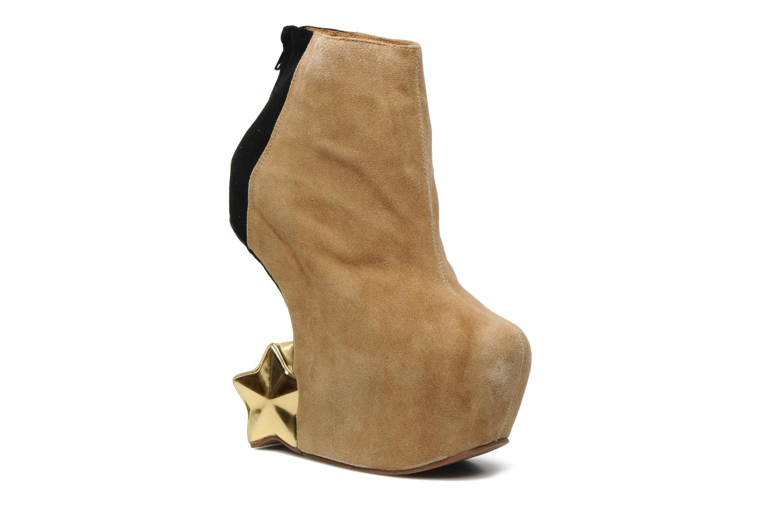 Bottines et boots Jeffrey Campbell NITEMATE (WITH GOLD STAR) Beige vue détail/paire