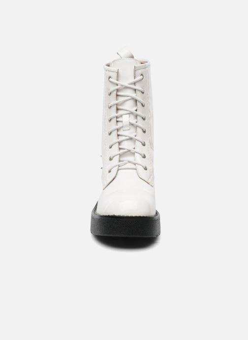 Bottines et boots Jeffrey Campbell 8TH STREET Blanc vue portées chaussures