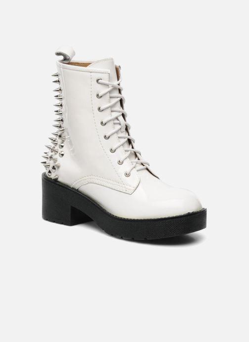 Bottines et boots Jeffrey Campbell 8TH STREET Blanc vue détail/paire
