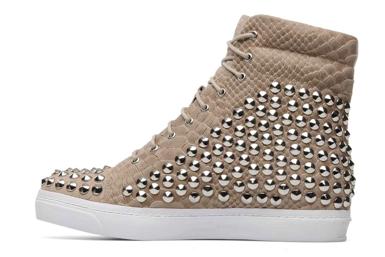 Sneakers Jeffrey Campbell Alva-Hi Beige immagine frontale