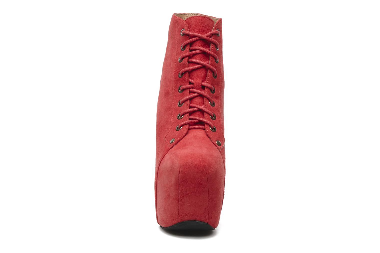 Bottines et boots Jeffrey Campbell FREDA Rouge vue portées chaussures