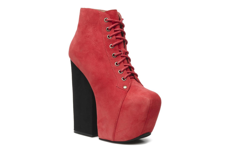 Bottines et boots Jeffrey Campbell FREDA Rouge vue détail/paire