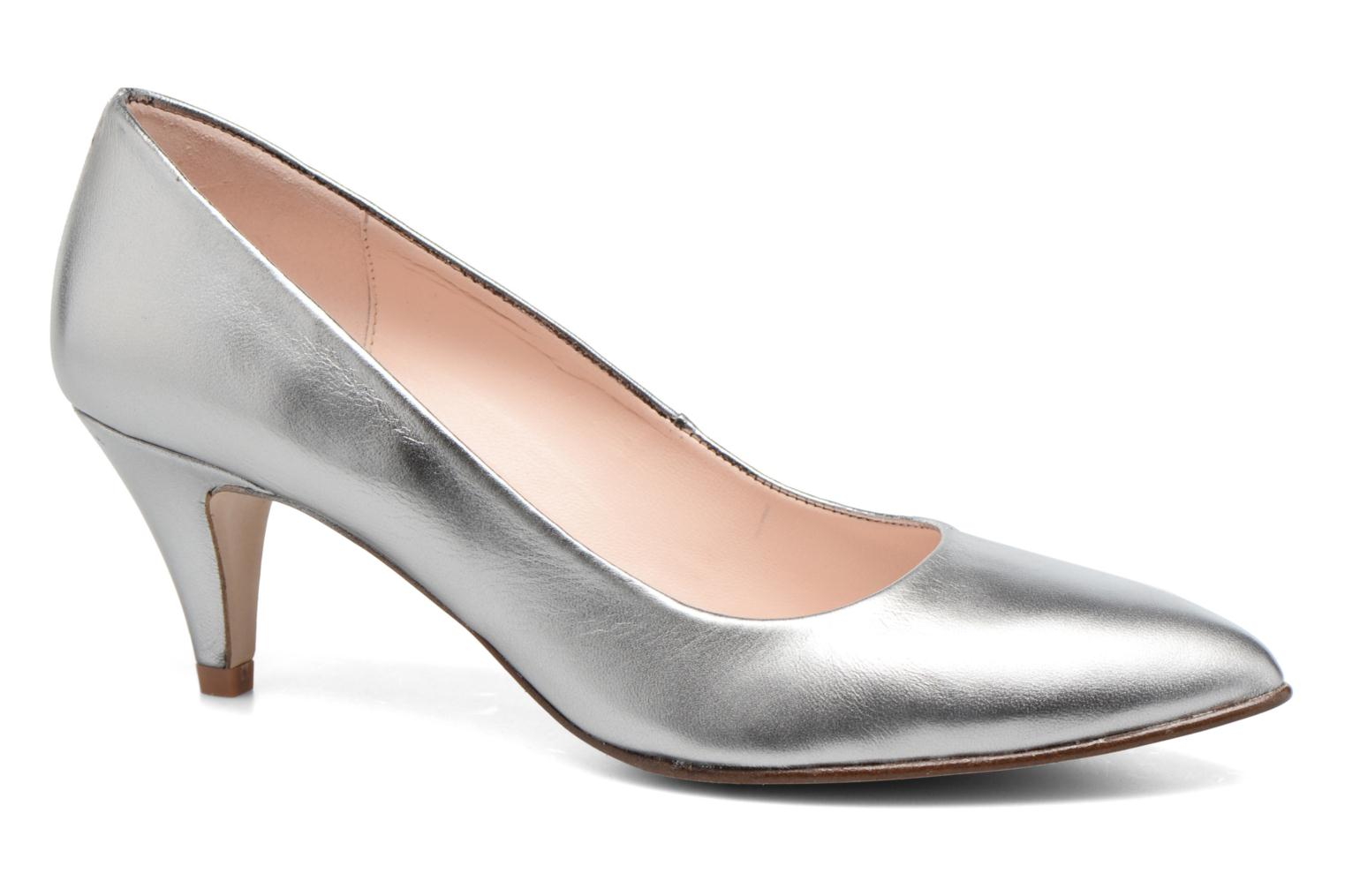 High heels Anna Volodia Ana Silver detailed view/ Pair view
