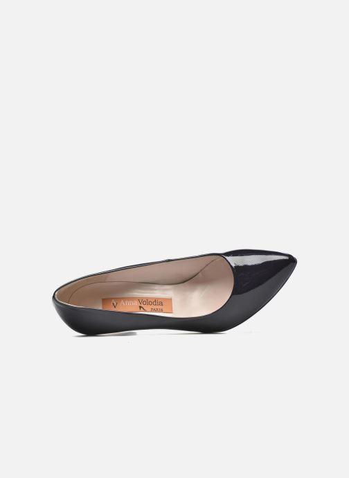 Zapatos de tacón Anna Volodia Avita Azul vista lateral izquierda