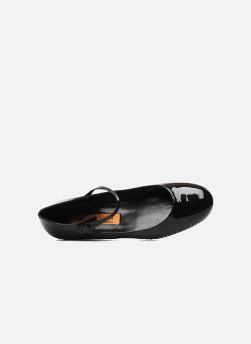 Ballet pumps Anna Volodia Aelan Black view from the left