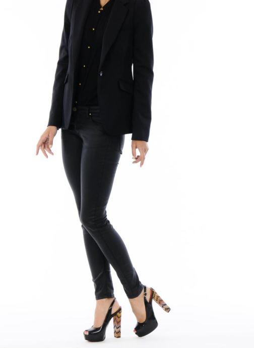 Sandalen Missoni Monia schwarz ansicht von unten / tasche getragen