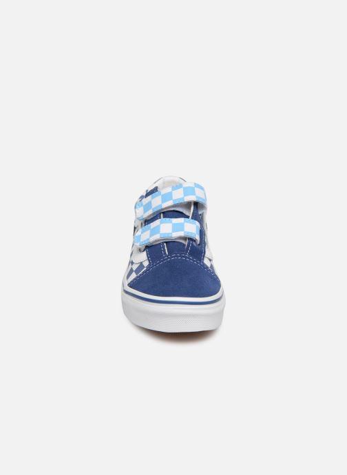 Baskets Vans Old Skool v Bleu vue portées chaussures