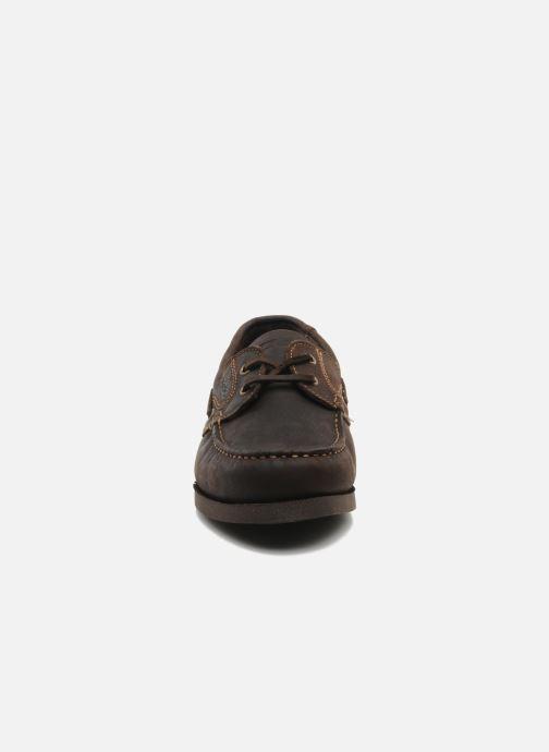 Schnürschuhe TBS Hauban braun schuhe getragen