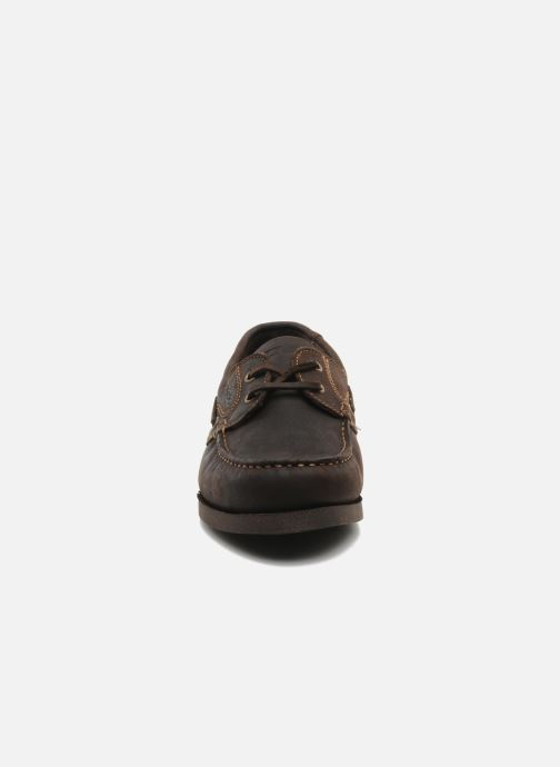 Lace-up shoes TBS Hauban Brown model view
