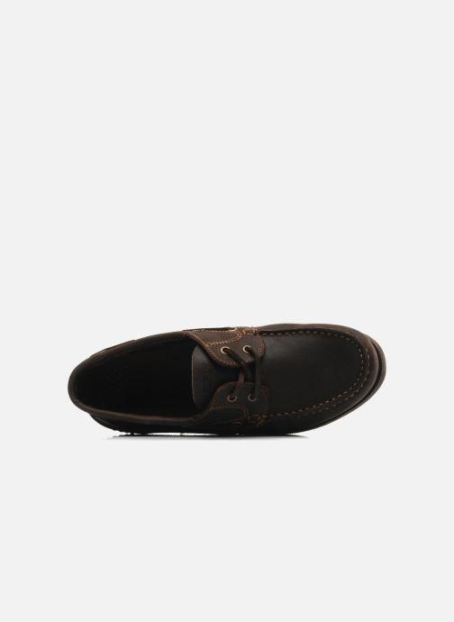 Zapatos con cordones TBS Hauban Marrón vista lateral izquierda