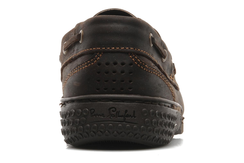 Zapatos con cordones TBS Hauban Marrón vista lateral derecha